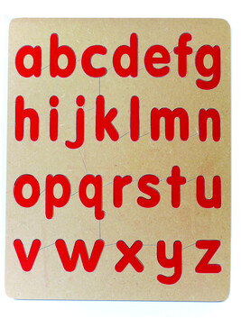 Lower Case Red Alphabet Puzzle