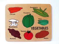Vegetables with Words - English Puzzle