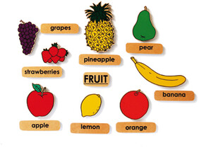 Fruit with Words - English Magnetics