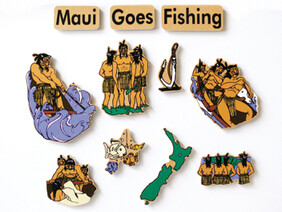 Maui Goes Fishing Magnetic